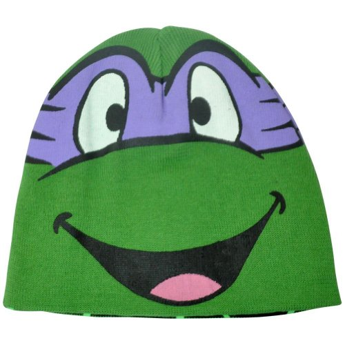 Teenage Mutant Ninja Turtles Character Donatello Reversible Cotton Beanie Hat