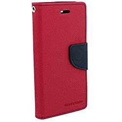 Pikimania Wallet Style Flip Case Cover For Motorola Moto E2 (Pink)