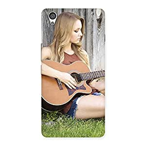 Gorgeous Guitar Girl Multicolor Back Case Cover for OnePlus X