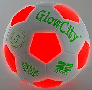 Light Up LED Soccer Ball - Uses 2 Hi-Bright LED Lights, Size 5