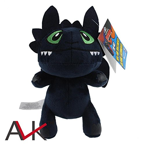 [Rosy Women 5Pcs/Set How To Train Your Dragon Toothless Night Fury Plush Doll Soft Stuufed Toy 8