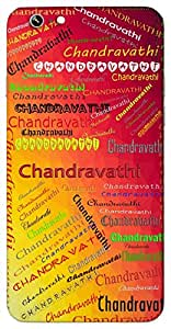 Chandravathi (Popular Girl Name) Name & Sign Printed All over customize & Personalized!! Protective back cover for your Smart Phone : Samsung Galaxy Note-5