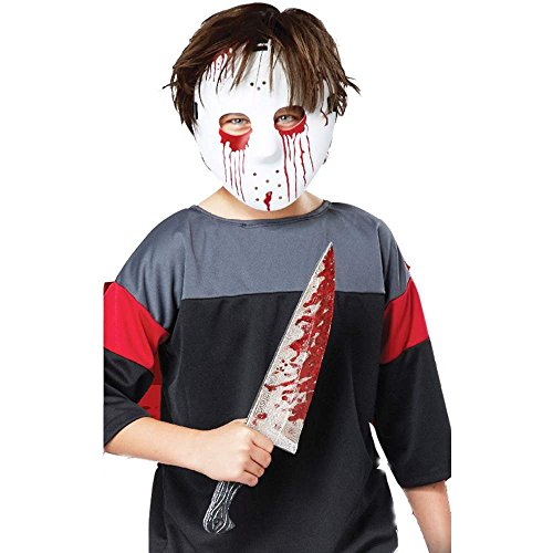 Kids Slasher Hockey Mask & Toy Knife Set