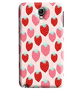 Blue Throat Red Pink Strawberry Printed Designer Back Cover/Case For Samsung Galaxy Note 3 Neo