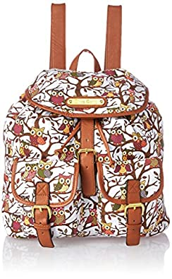 LYDC Anna Smith Large Authentic Celebrity Designer Retro Owl Tree Pint Rucksack Backpack
