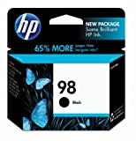 HP 98 Black  Ink Cartridge in Retail Packaging (C9364WN#140)
