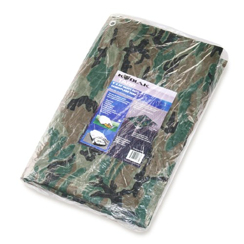 Kodiak Tarps Camo 8' x 10' Tarp Cover Patio or Yard Camouflage Canopy For Shade or Weather