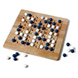 Tic-Tac-Ku Solid Wood Game (Blue/White) by Mad Cave Bird Games ~ Mad Cave Bird Games
