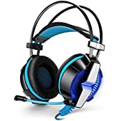Kotion Each G7000 7.1 Channel USB Over Ear Gaming Headphones For PC With Vibration (Black/Blue)