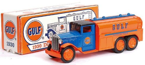 GULF 1930 Diamond T Fuel Tanker DIE-CAST COIN BANK - 1