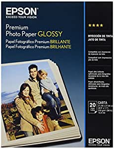 Epson Premium Glossy 8 1/2 x 11 Inch Photo Paper 20 Count (S041286)