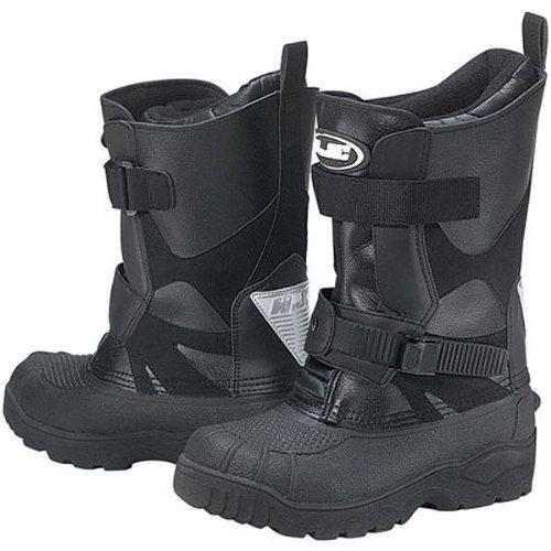 HJC Standard Men's Leather Winter Sport Racing Snowmobile Boots - Black / Size 11