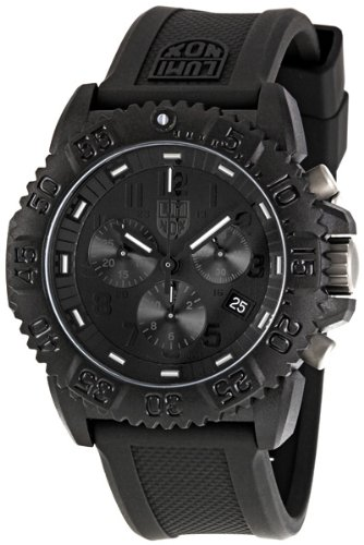 Luminox Rubber Strap Black Chronograph Men's Watch - 3081.BO