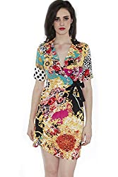 Divaat Print Play Wrap Dress