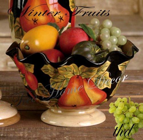 Vineyard Tuscany Grape Fruits Wine Decor Kitchen Water
