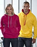 Just Hoods by AWDis Varsity Hoodie Arctic White/Hot Pink L