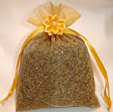 Certified Organic Lavender Sachet - Scent Lingerie and Linen with the Soothing Smell of Lavender. Calming and Relaxing! In 4 X 6 10cm X 15cm Organza Bag