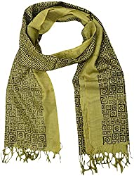 Sahiba Creation trendy and colourful desi tusser silk stoles for women's(green)