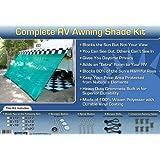 RV Awning Shade RV Patio Shade RV Sun Shade Green 8x10