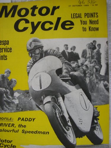 Motor Cycle Magazine 1965 Golden Age Of Motorcycling