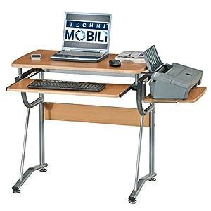 Techni Mobili Juvenile MDF Compact Computer Desk, Cherry