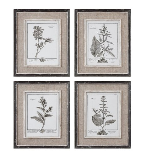 Uttermost Casual Gray Study Framed Art Set/4 front-198731