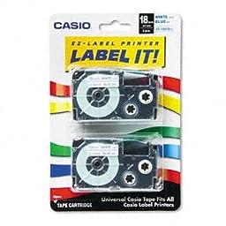 Casio Inc. XR18WEB2S Tape Cassette for Label Printer