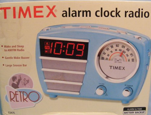 Timex Retro Alarm Clock Radio T247LT
