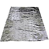 4X Foil Survival Rescue Emergency Blanket Waterproof Silver Hiking First Aid
