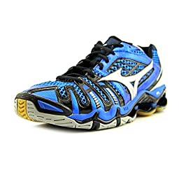 Mizuno Mens Wave Tornado 8 Indoor Volleyball Shoes, Blue/Silver/Black, US 12.5