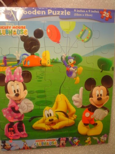 Cheap Cardinal Disney Mickey Mouse Clubhouse Wooden Puzzle 25 Piece (B004DB4G3O)