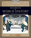 img - for Sources of World History, Volume I book / textbook / text book