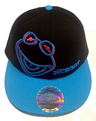 Disney Muppets Neon Colors Kermit Frog 3D Flatbill Adjustable Cap Hat