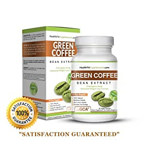 Health Fit Supplements Pure Green Coffee Bean Extract! Lose Weight & Burn Fat or Your Money Back! 100% 800mg - 60 Capsules Buy 2 Get 1 Free, Buy 3 Get 2 Free!
