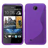 Samrick 'S' Wave Hydro Gel Protective Case for HTC Desire 300 - Purple