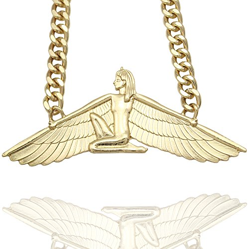 Egyptian-Goddess-Isis-Ankh-Wing-Chunky-Curb-Chain-Wicca-Pagan-Necklace-23