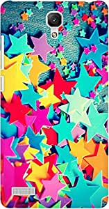 AMEZ designer printed 3d premium high quality back case cover for Xiaomi Redmi Note Prime (colourful stars)