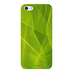 HomeSoGood Bright Web Green Case For iPhone 5 / 5S (Back Cover)