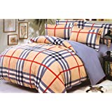 WRAP 100% PREMIUM QUALITY REVERSIBLE DOUBLE BED 4PC COMFORTER SET SMC-02