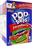 Kellogg's Unfrosted Strawberry Pop Tarts 14.7 OZ (416g)