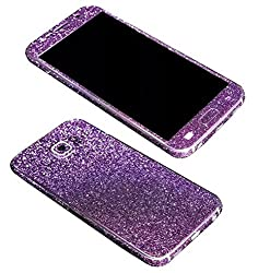 Dreams Mall(TM)Top Fashion Bling Glitter Crystal Diamond Whole Body Protector Film Sticker for Samsung Galaxy S6-Purple
