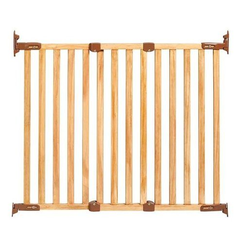"KidCo Angle Mount Safeway Gate G2300 Oak Wood 28 5 to 43"" Furnit"