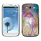 LECELL Protective Case Cover Skin For Samsung Galaxy S3 I9300 ¡ï Happy Rain Window Painting ¡ï