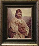 Framed Picture of Jesus, Lost Lamb By Del Parson