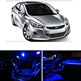 Hyundai Elantra 2011 & Up Blue Premium LED Interior Lights Package Kit (6 Pieces)