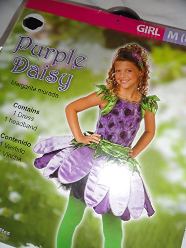 Child Size 8-10 Girls Purple Daisy Costume - Dress up , Halloween (80s Dress Up Ideas For Men)