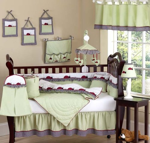 JoJo Designs 9-Piece Baby Crib Bedding Set - Ladybug Parade