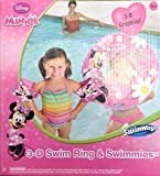 Minnie Mouse 3-d Swim Ring & Swimmies (Arm Bands)