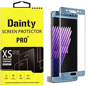 Dainty Premium Full Curve (Perfect Fit) (Blue Colour) Tempered Glass for Samsung Galaxy Note 7 - Blue Colour