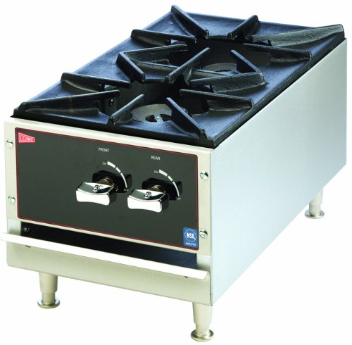 Grindmaster-Cecilware AG120-LP Liquid Propane Gas Cast Iron and Stainless Steel Short Order Stove, 17000 BTUs/Hour